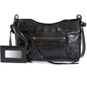 BALENCIAGA Classic Hip Crossbody Bag Black